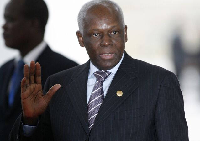 José Eduardo dos Santos, presidente de Angola, durante sua visita a Portugal em 2007