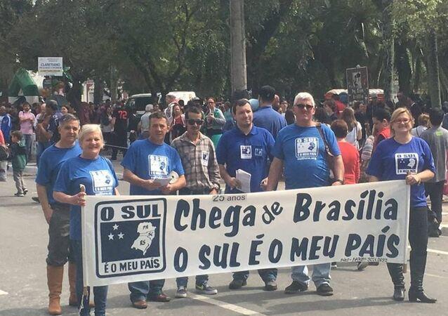 Imagem de manifestação do movimento separatista brasileiro Sul é o Meu País