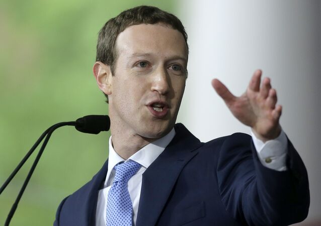 Mark Zuckerberg, fundador e presidente do Facebook, discursando na Universidade de Harvard, no estado americano de Massachusetts, em 25 de maio de 2017