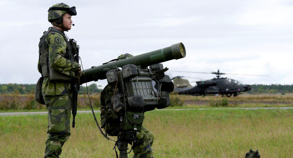 Defesa aérea da Suécia pela primeira vez contra os helicópteros de assalto como parte dos exercícios militares (File)