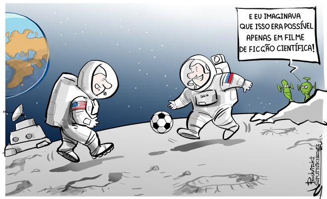 No espaço até Rússia e EUA se dão bem