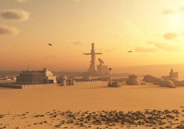 Cidade marciana (imagem ilustrativa)