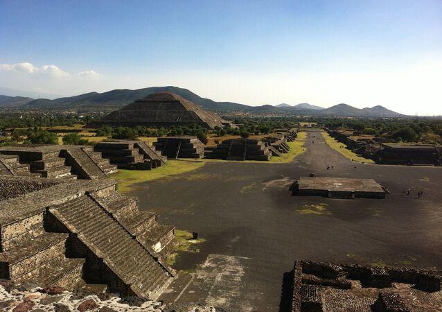 Teotihuacán, a cidade pré-hispânica (foto de arquivo)
