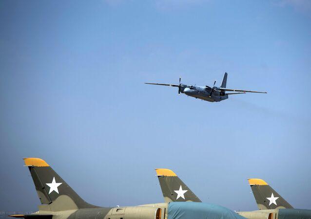 O avião An-26, entregue pela Rússia a Quirguistão