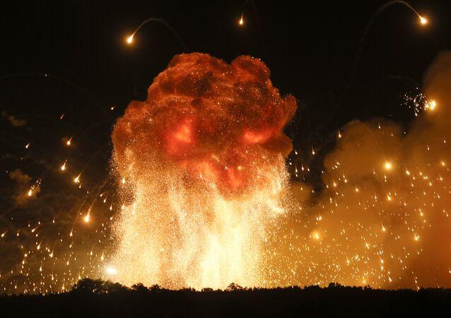 Explosão de munições na Ucrânia