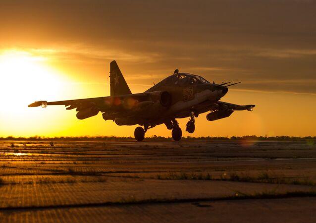 Caça russo Su-25SM3 (imagem referencial)