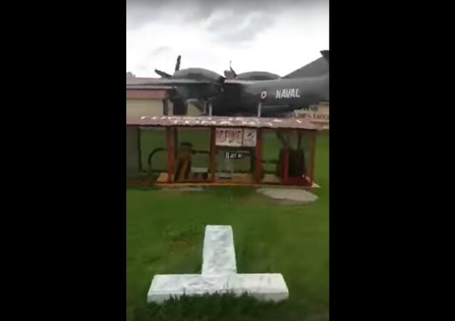Avião An-32 colidiu com a estação da polícia na base aérea de Mazamari na Província de Satipo, região de Junín, Peru