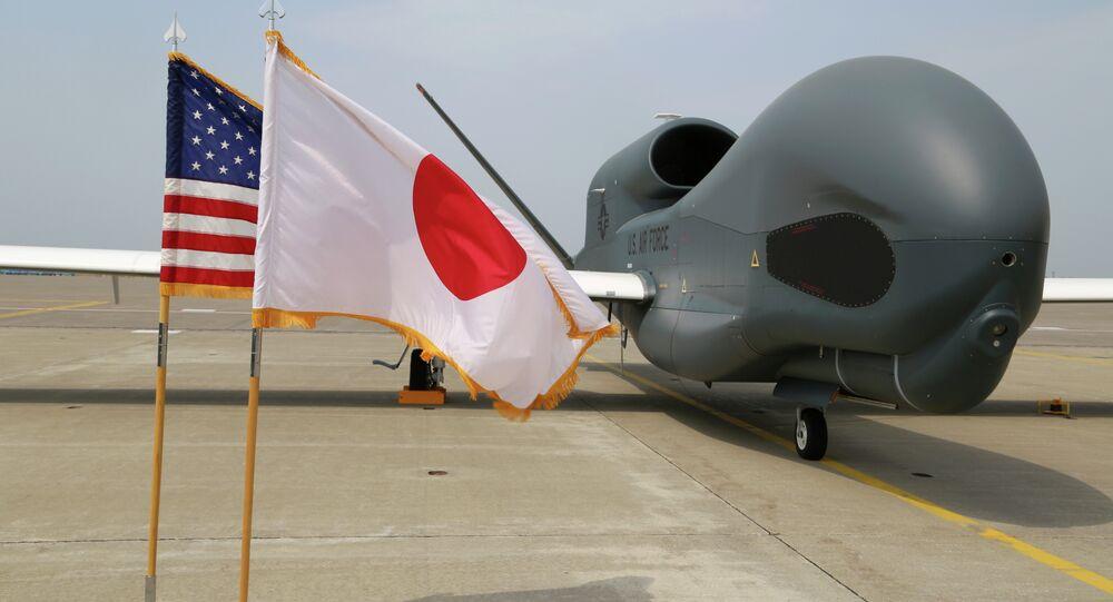 Drone Global Hawk no Japão.