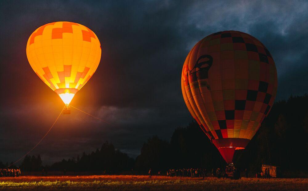 Festival de balões na região russa de Ivanovo