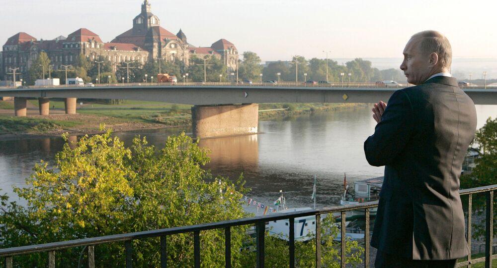 Vladimir Putin, presidente da Rússia, em Dresden, na Alemania (foto de arquivo)