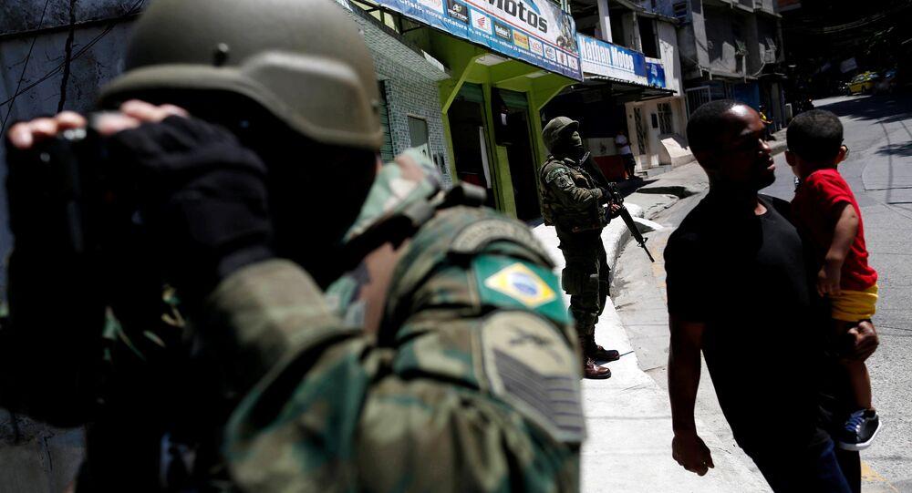 Efetivos das Forças Armadas brasileiras na Rocinha, 26 de setembro de 2017