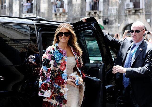 Melania Trump, a esposa do presidente norte-americano, Donald Trump, e a primeira-dama dos EUA