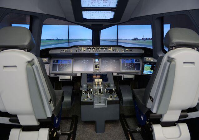 Cabine de um avião (imagem referencial)