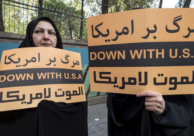 Manifestação anti-EUA em Teerã, Irã (arquivo)