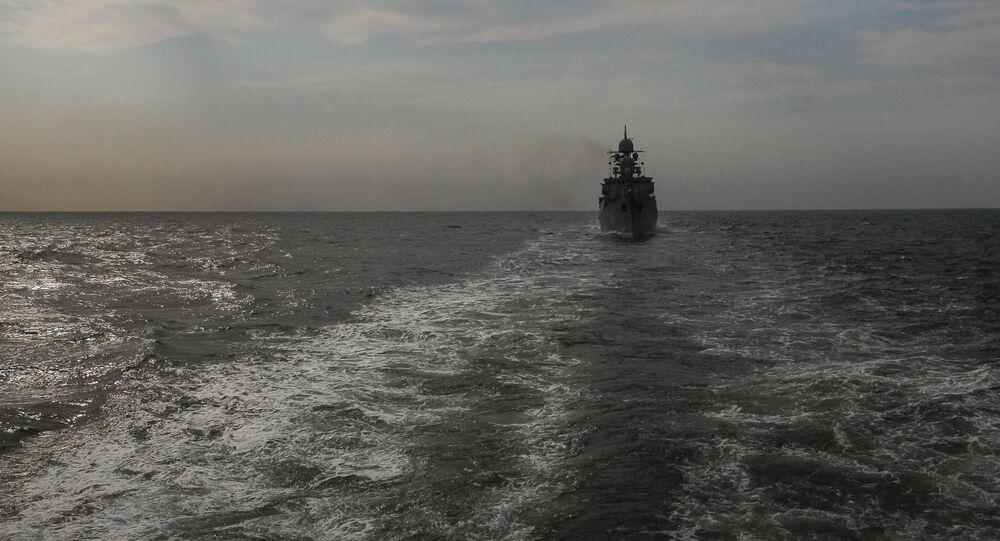 Treinamentos da flotilha da Frota do Cáspio