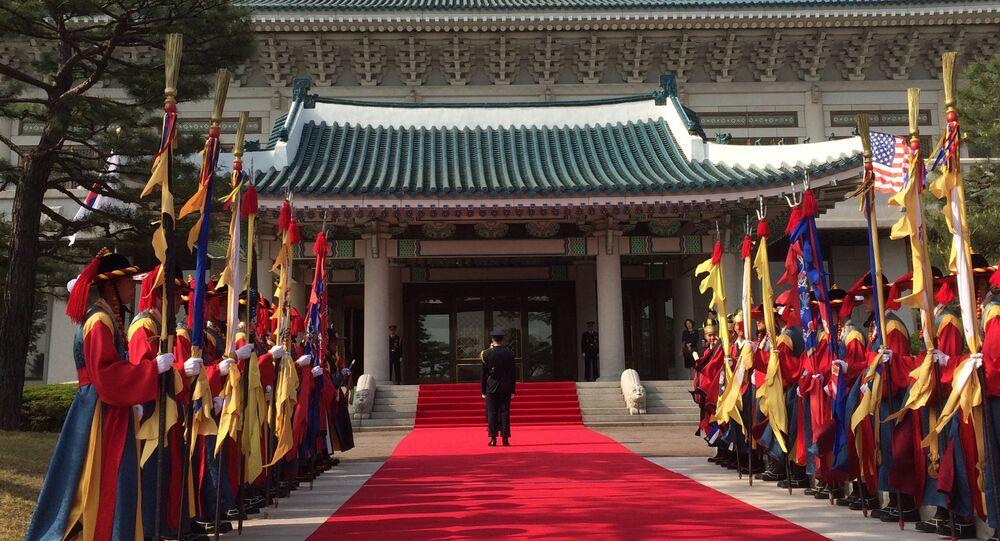 A residência presidencial sul-coreana , conhecida como a Casa Azul, em Seul (foto de arquivo)