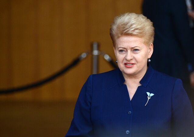 Presidente da Lituânia Dalia Grybauskaite na cúpula da União Europeia