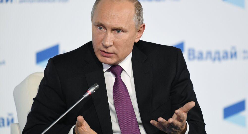 Vladimir Putin discursa na 14ª Sessão do Clube Valdai