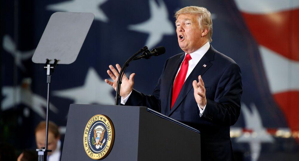 Donald Trump, presidente norte-americano, fala sobre a reforma tributária em Harrisburg, Pensilvânia
