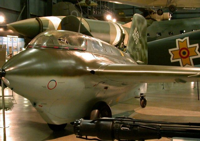 Avião alemão Messerschmitt Me 163B Komet