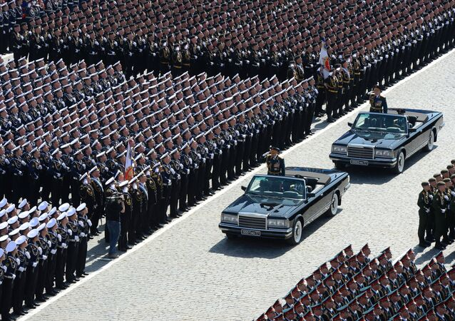 A parada do Dia da Vitória em Moscou