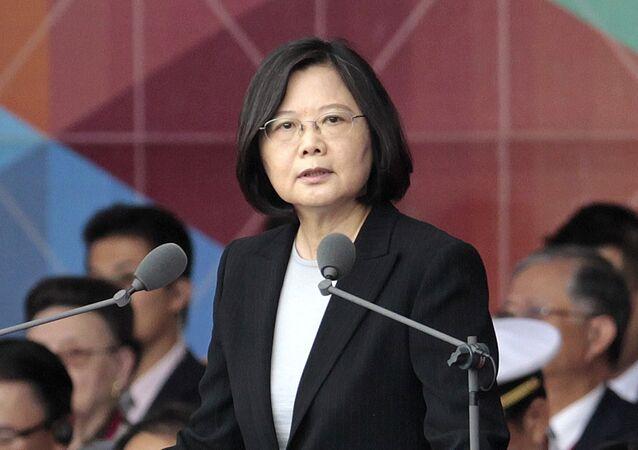 Presidente de Taiwan Tsai Ing-wen (foto de arquivo)