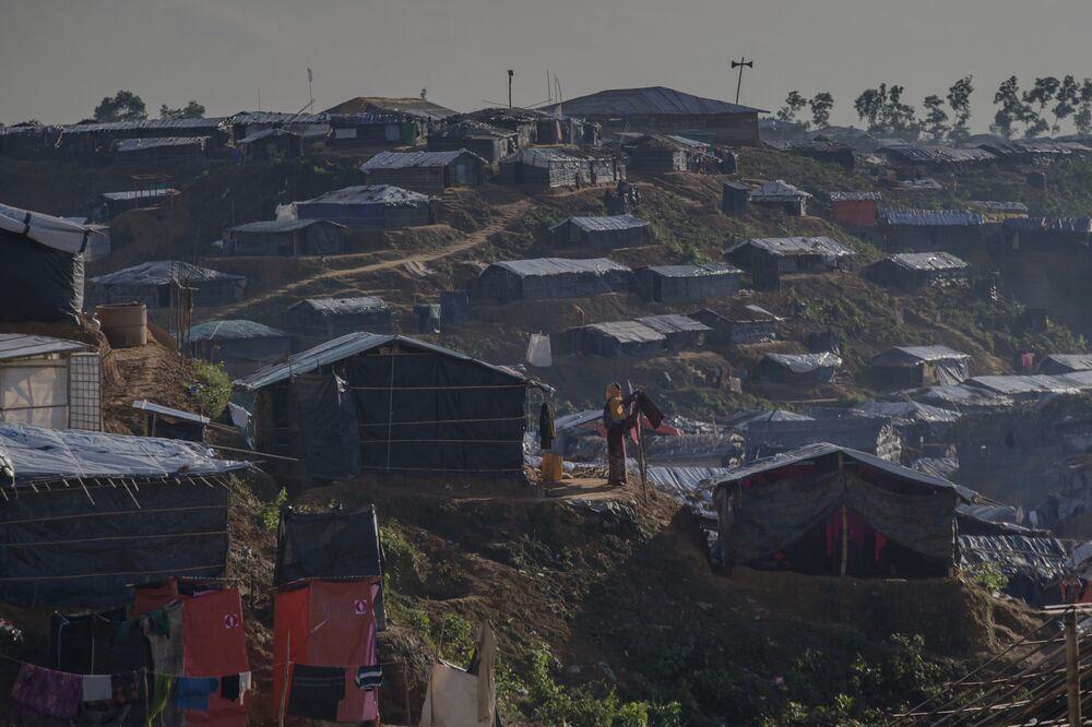 Campo de refugiados rohingya em Bangladesh