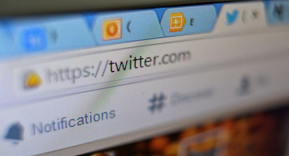 Página do Twitter no navegador