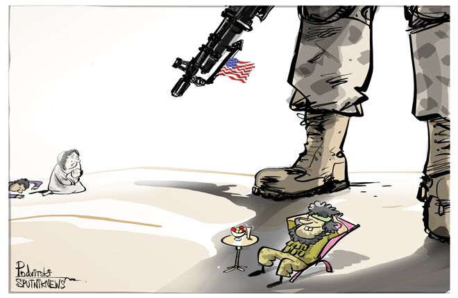 Deixe o terrorista relaxar, civil faminto!