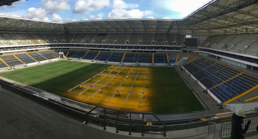Novo estádio Rostov Arena na cidade de Rostov-no-Don, em 31 de outubro de 2017
