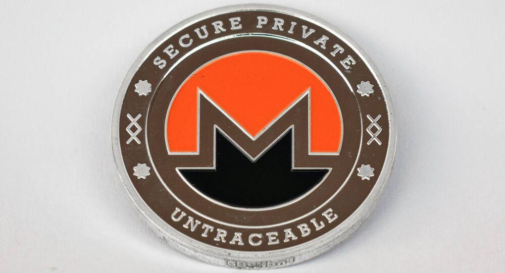 Representação da criptomoeda Monero, lançada em 2014