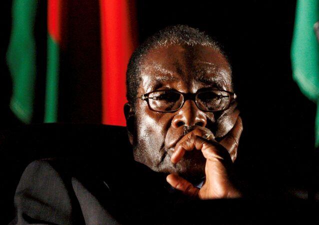 Robert Mugabe, presidente do Zimbábue, é visto em 17 de agosto de 2008