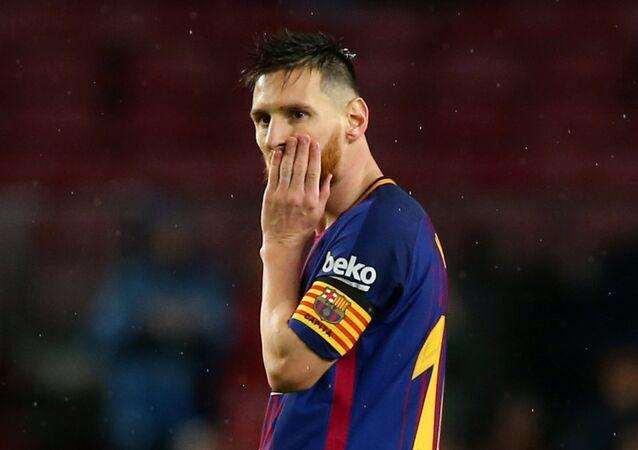 O argentino Lionel Messi em campo contra o Sevilla no último dia 4 de novembro.