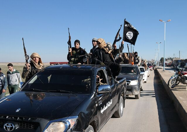 Terroristas do Daesh no nordeste da Síria (foto de arquivo)