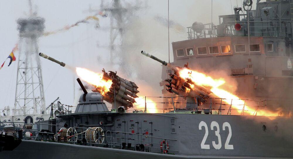 Ensaio do Desfile Naval em homenagem ao Dia da Marinha, Rússia