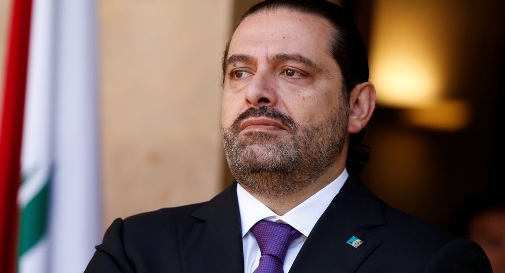 Lebanon's Prime Minister Saad al-Hariri is seen at the governmental palace in Beirut, Lebanon October 24, 2017
