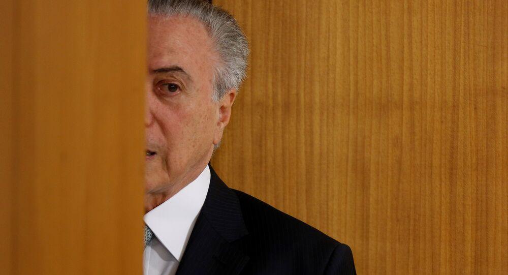 Michel Temer no Palácio do Planalto