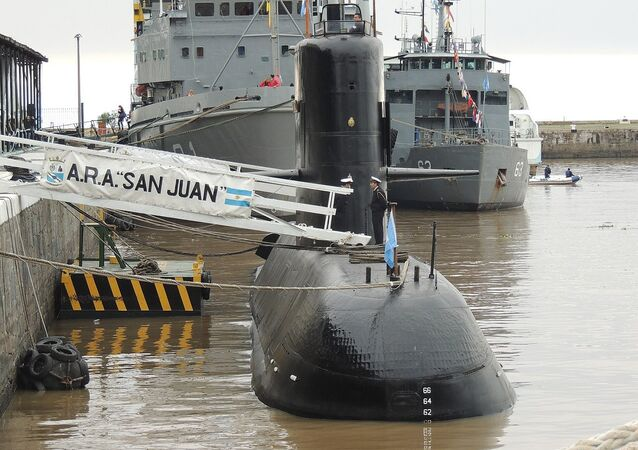 Submarino ARA San Juan en el Apostadero Naval de Buenos Aires, durante una jornada de puertas abiertas en mayo de 2017 por el día de la Armada Argentina.