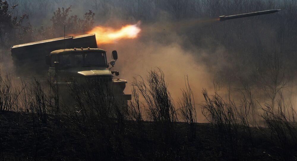 Lançador múltiplo de foguetes BM-21 Grad
