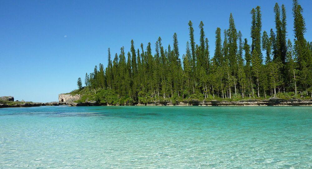 Nova Caledônia, arquipélago pertencente à França no Pacífico, na região da Melanésia