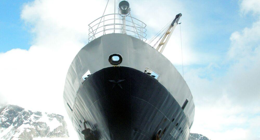 O navio russo MV Lyubov Orlova (foto de arquivo)
