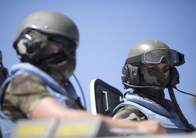 Pacificadores da ONU, foto de arquivo
