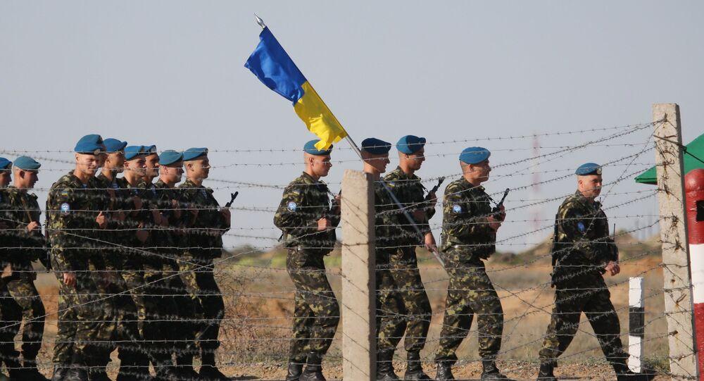 Tropas aerotransportadas ucranianas participam das manobras Tsentr 2011 (foto de arquivo)