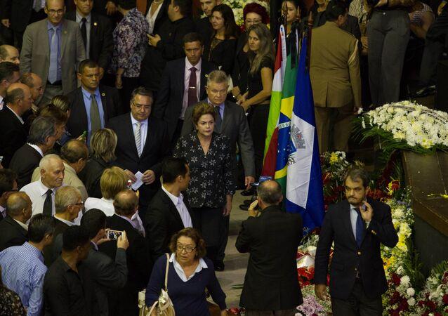 Velório do senador Luiz Henrique da Silveira, em Joinville (SC)