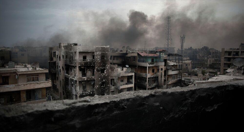 Distrito de Saif Al Dawla, em Aleppo, Síria