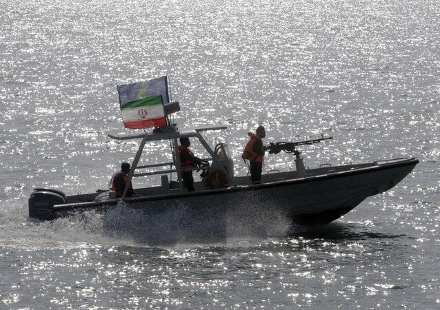 Embarcação da Guarda Revolucionária do Irã.