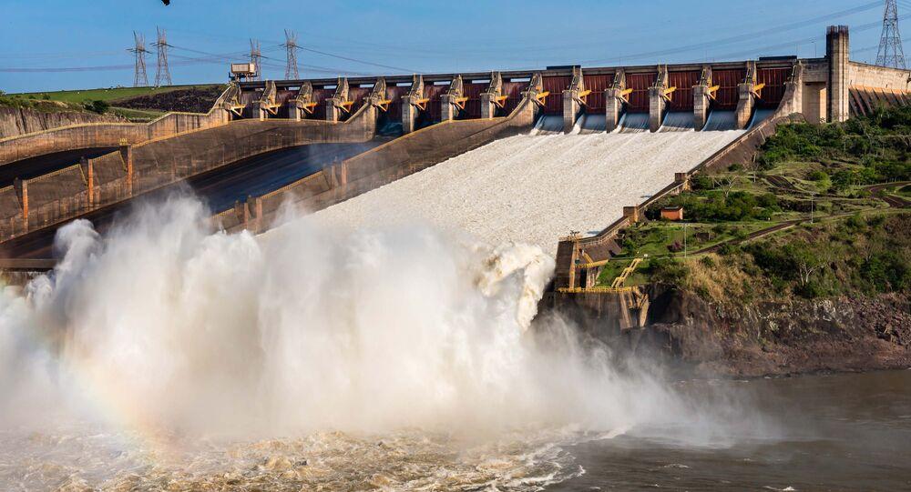 Usina Hidrelétrica de Itaipu, operada pela Itaipu Binacional, da qual a Eletrobras, estatal que está para ser privatizada, é uma das donas