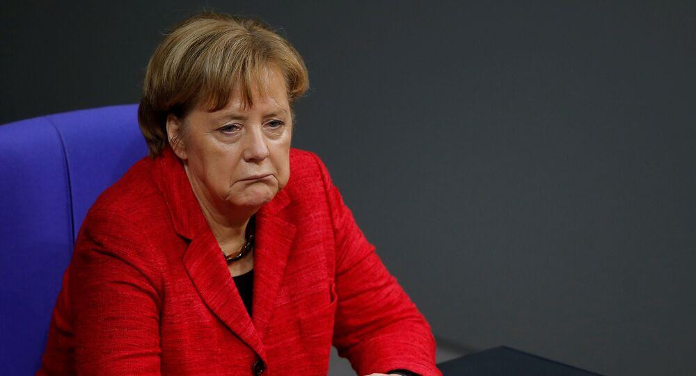Angela Merkel no Parlamento alemão, 21 de novembro de 2017