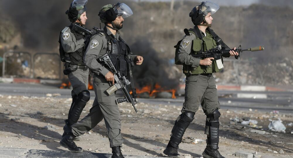 Guarda das fronteiras de Israel, foto de arquivo