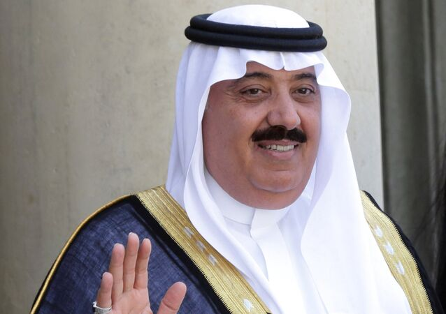 Príncipe Miteb bin Abdullah em Paris, 2014